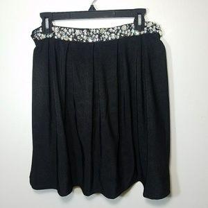 black jeweled skirt